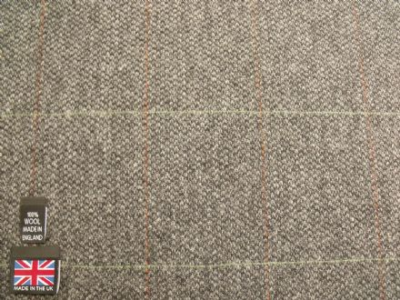 100% Wool Barleycorn Country Tweed  Windowpane Check Fabric BZ01